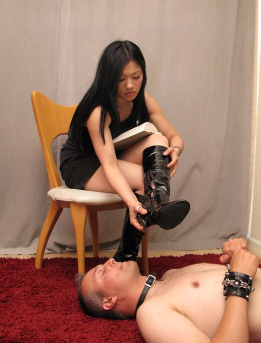 playing with her slave